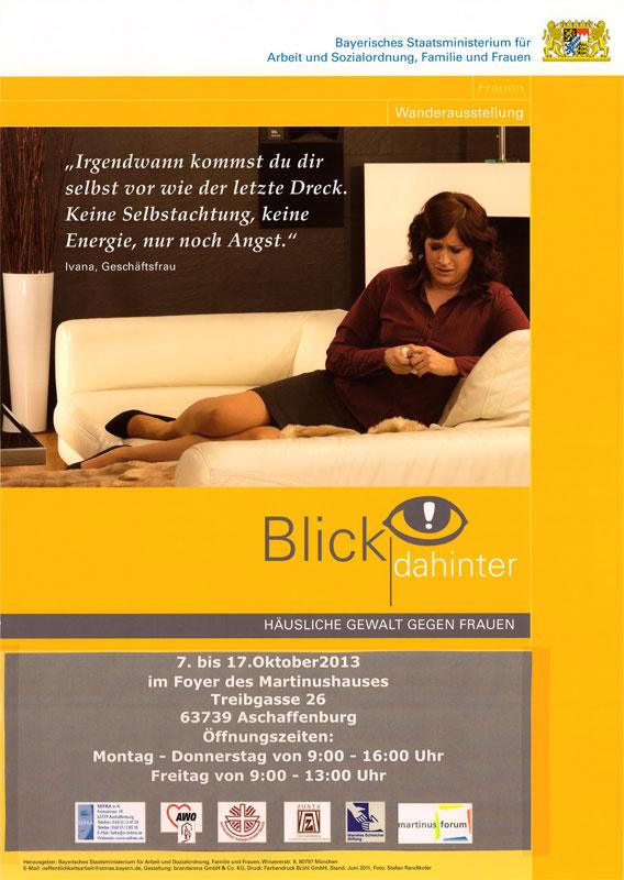 """Ausstellung """"Blick dahinter, häusliche Gewalt gegen Frauen"""" im Martinushaus erfolgreich zu Ende gegangen"""