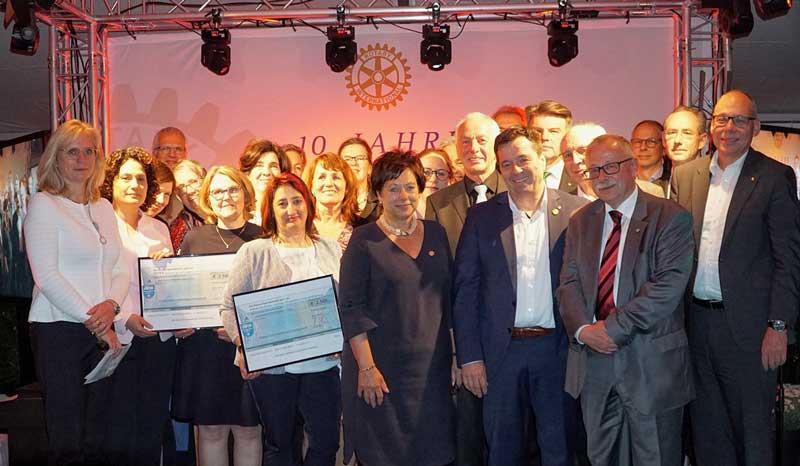 Jubiläums-Spende des Rotary-Club Schöllkrippen-Kahlgrund