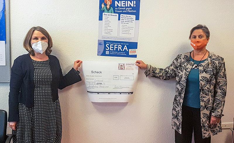 Großzügige Spende des ZONTA Club Aschaffenburg für eine erweiterte Beratung bei sexualisierter Gewalt